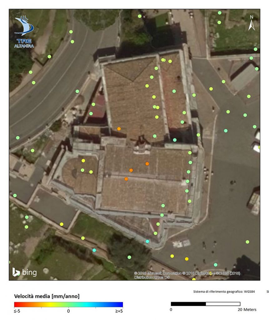 Measurements SqueeSAR & Terra-SAR-X of the San Giuseppe dei Falegnami church